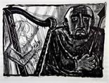 Otto Dix. Saul und David. Lithographie. 1958. 44,5 : 61,2 cm (52,5 : 65,0 cm). Signiert, datiert und