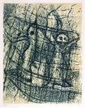 Max Ernst. Un chant d'amour. Farblithographie. 1958. 31,7 : 24,6 cm (39,5 : 29,0 cm). Signiert und