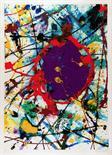 Sam Francis.  Farbserigraphie. 1993. 82,0 : 57,5 cm (108,0 : 73,0 cm). Signiert und nummeriert.