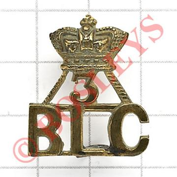 Indian Army: Crown / 3 / BLC 3rd QO Regiment of Bombay Light