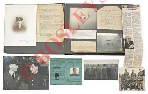 Lot 666 - WW1 RNAS Photograph Album of Lieutenant Frederick Hayward DFM, AFM. A fine snap shot photograph