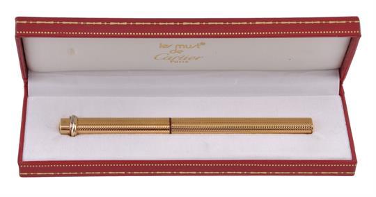 Cartier, Must de Cartier, Vendome, a gold plated fountain pen Cartier, Must  de Cartier, Vendome,
