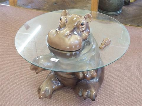 Hippo Coffee Table a babbacombe pottery hippo coffee table