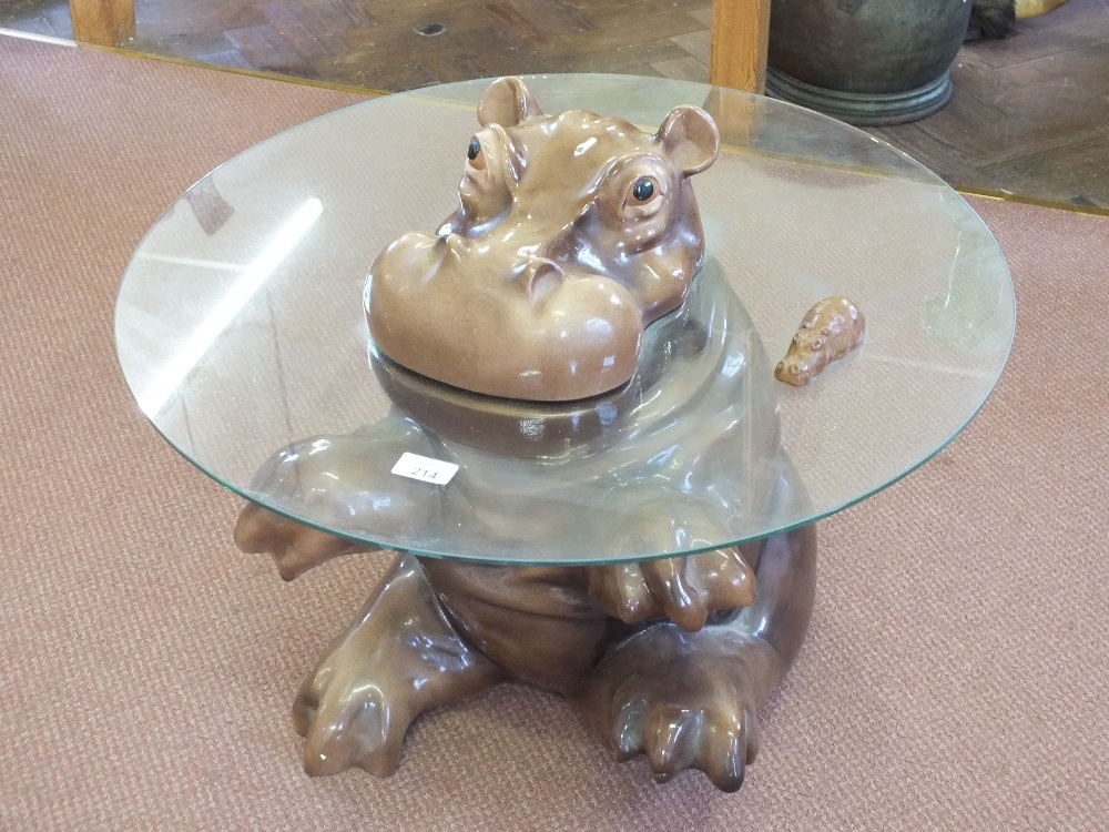 A Babbacombe Pottery Hippo Coffee Table