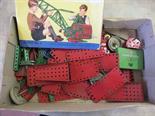 A box of various Meccano