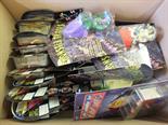 Ten Hasbro Stargate models in blister packs, six Nintendo Super Mario Brothers in blister packs