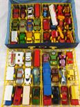 A Matchbox carry case and forty eight models