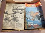 Various Battle comics, Look and Learn magazines and two Eagle annuals (two boxes)