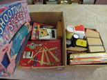 Two boxes of board games, childrens books etc