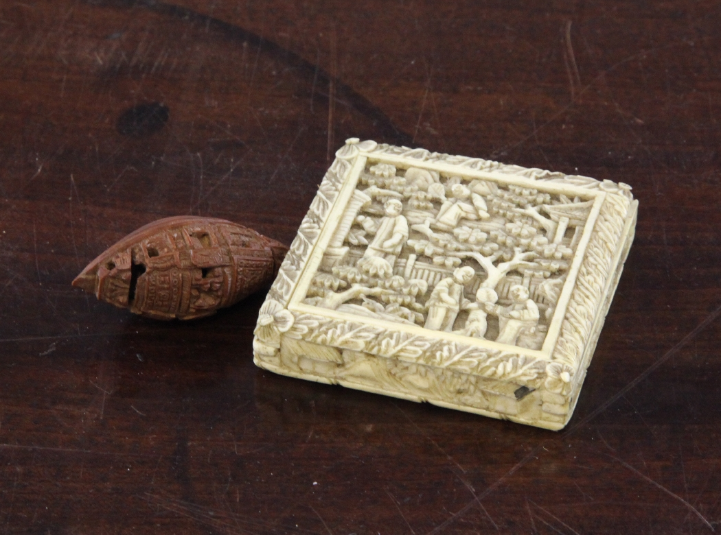 A chinese export ivory tangram puzzle th century the