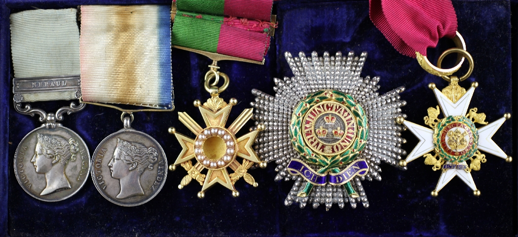 Lot 900 - The Generals Medals - a rare early Indian Campaign Group of five to General Sir George Petre Wymer