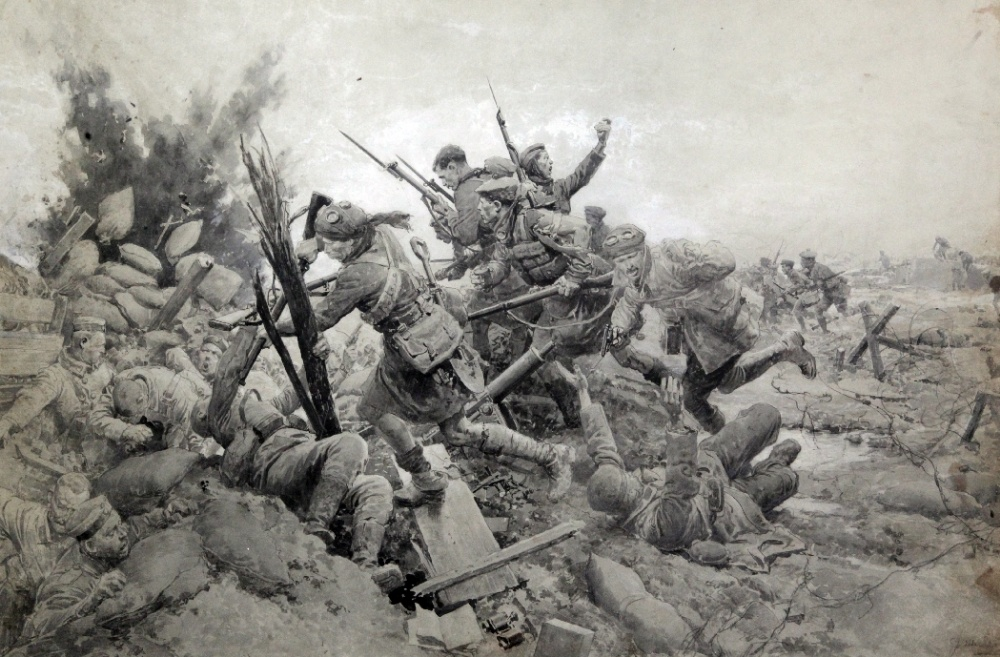 Image result for charge 1st Scots Guards at Loos