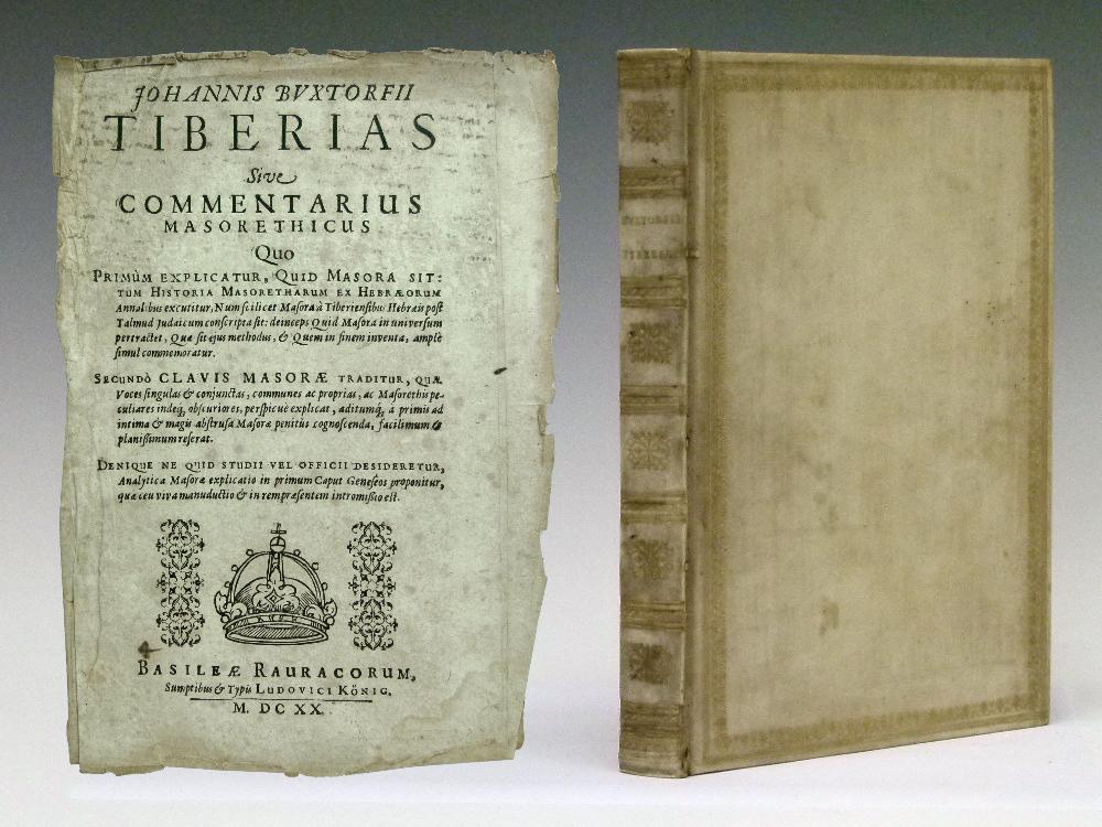 Lot 370 - Books-Johann Buxtorf-Johannis Buxtorfii Tiberias Sive Commentarius Masorethicus, published