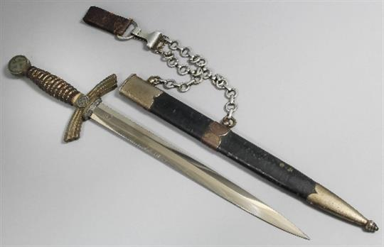 A German post 1938 first model Luftwaffe dagger by Alcoso of
