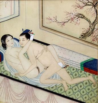 Chinese erotic paintings watercolors