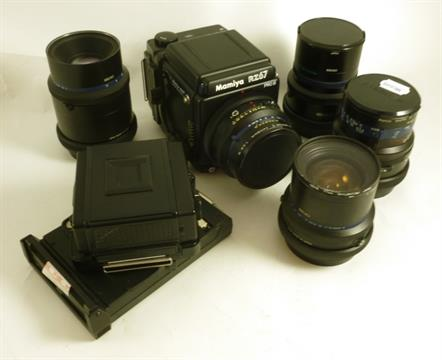 A Mamiya RZ67 PRO II Camera Outfit, with an F2 8/110mm lens