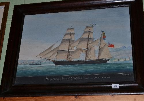 Lot 375 - Raffaele Corsini, `Catherine Morrison`, ship signed, oil on board