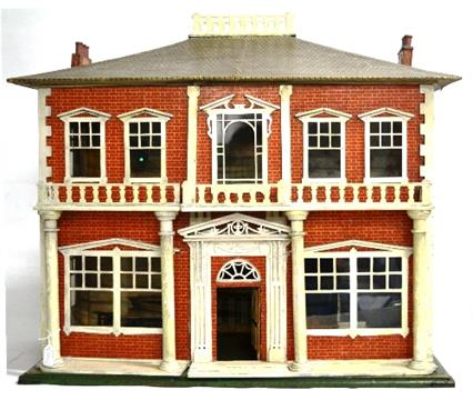 Circa 1923 Handicrafts A58 Kit Dolls House With Red Brick Papered