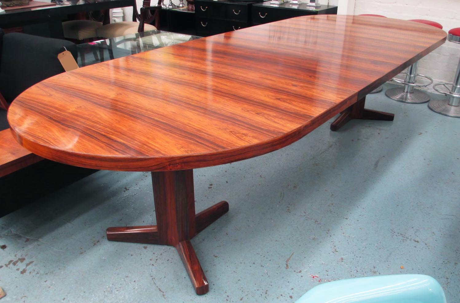 Gordon Russell Dining Table Rosewood Extending With Extra Two