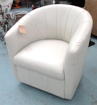 Pleasant Armchair Swivel Tub Chair Reputedly By Natuzzi With Faults Squirreltailoven Fun Painted Chair Ideas Images Squirreltailovenorg