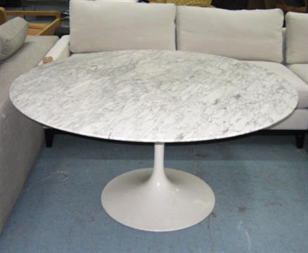 EERO SAARINEN TULIP TABLE By Knoll Original S Whitegrey - Original saarinen tulip table