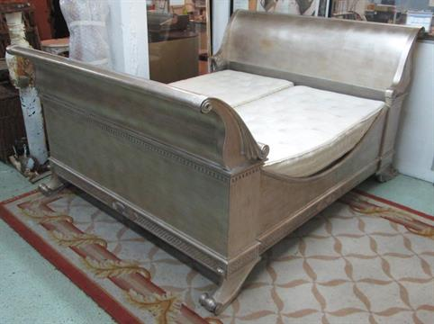 Sleigh Bed Silver Gilt From And So To Bed With Base And