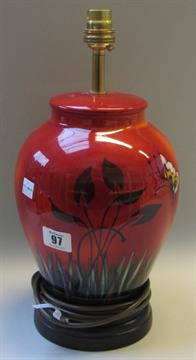 A poole pottery table lamp modelled as a ginger jar and cover and auction date mozeypictures Images