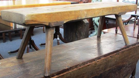 Tremendous An 18Th Century And Later Sycamore Pig Bench The Single Dailytribune Chair Design For Home Dailytribuneorg