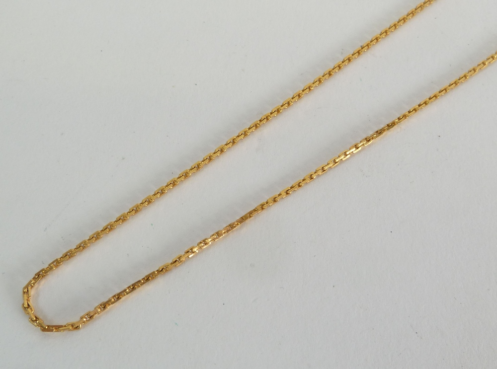 MIDDLE EASTERN 22CT GOLD CHAIN NECKLACE with S shaped clasp 24