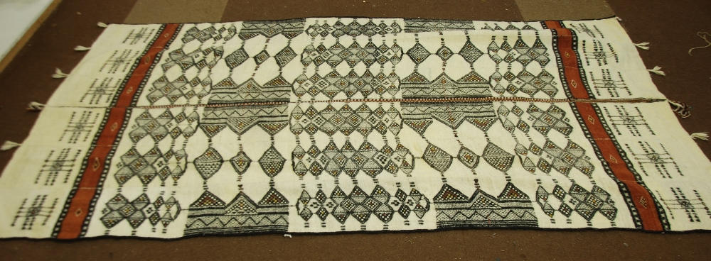 Lot 18   A WEST AFRICAN CAMEL HAIR CAMEL RUG, Woven In The Form Of