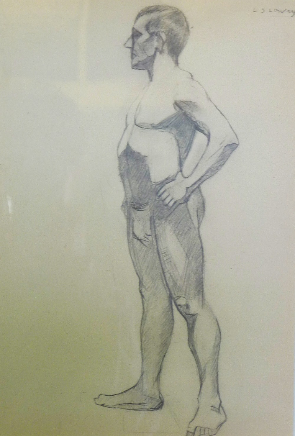 Lot 137 attributed to l s lowry pencil drawing study of a nude male signed upper