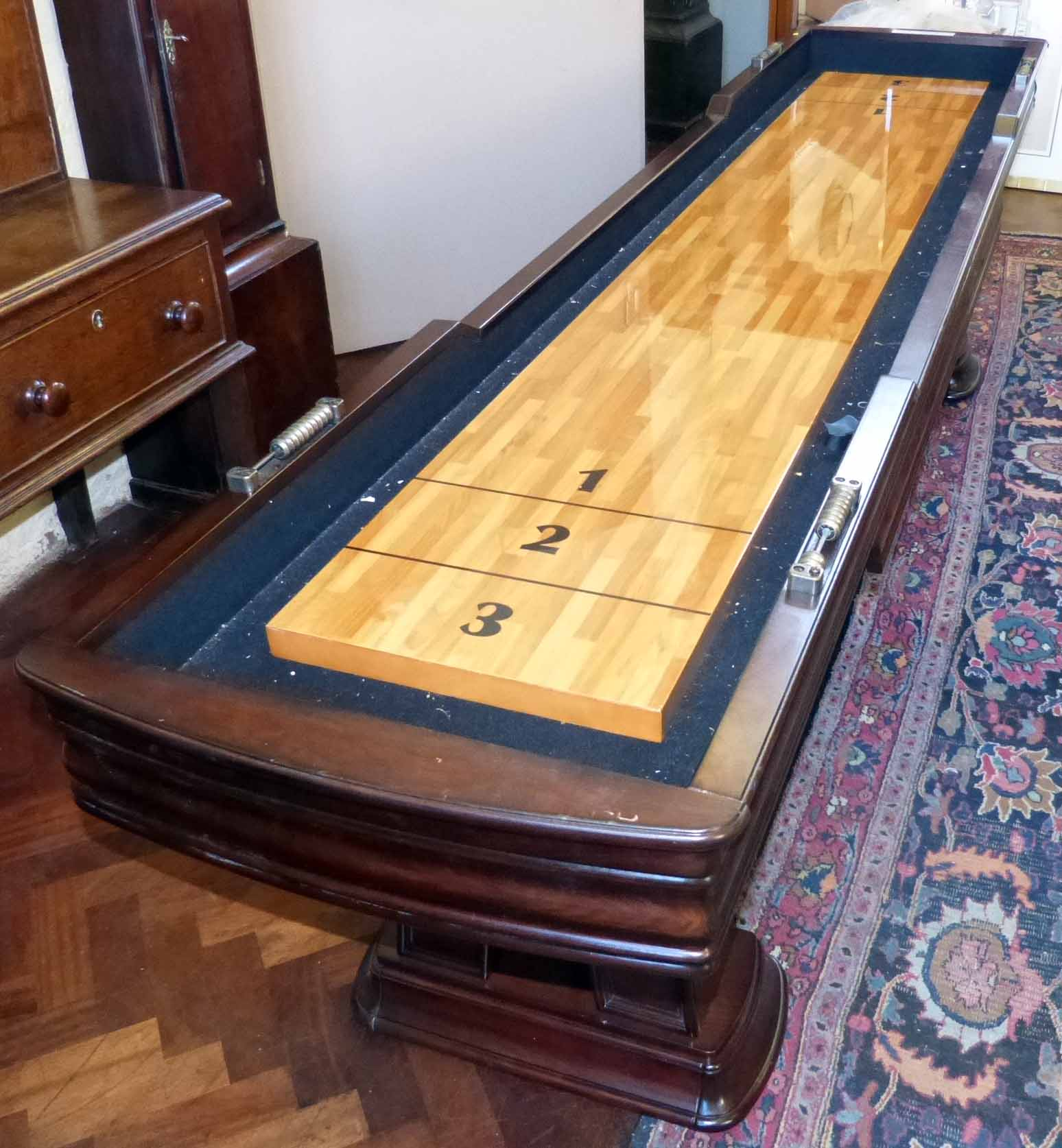for rustic table shuffleboard sale foot champion