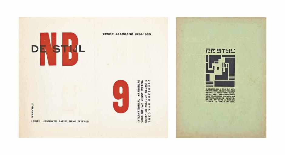Lot 32 - DE STIJL - THEO VAN DOESBURG (editor). De Stijl. Maandblad voor de moderne beeldende vakken. Numbers