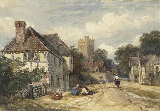 David Cox, Jun , A R W S  (Dulwich 1809-1885 Streatham) A