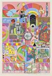 Lot 135 - Eduardo Paolozzi (1924-2005) Bash (three variations) three screenprints in blue, pink and yellow