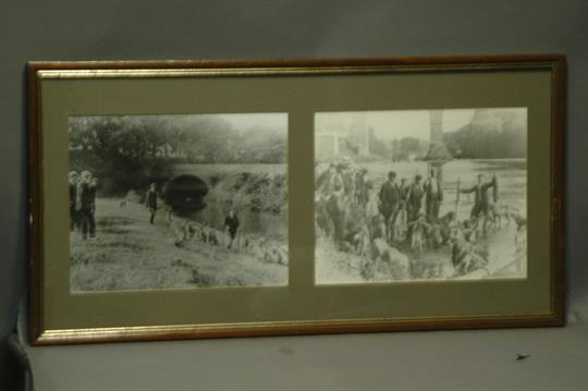 Carlisle Otter Hound Wetheral 1951 Two Photographic Prints In One