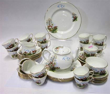AN EXTENSIVE SERVICE OF `DUCHESS` BONE CHINA TEA AND DINNERWARE With ...
