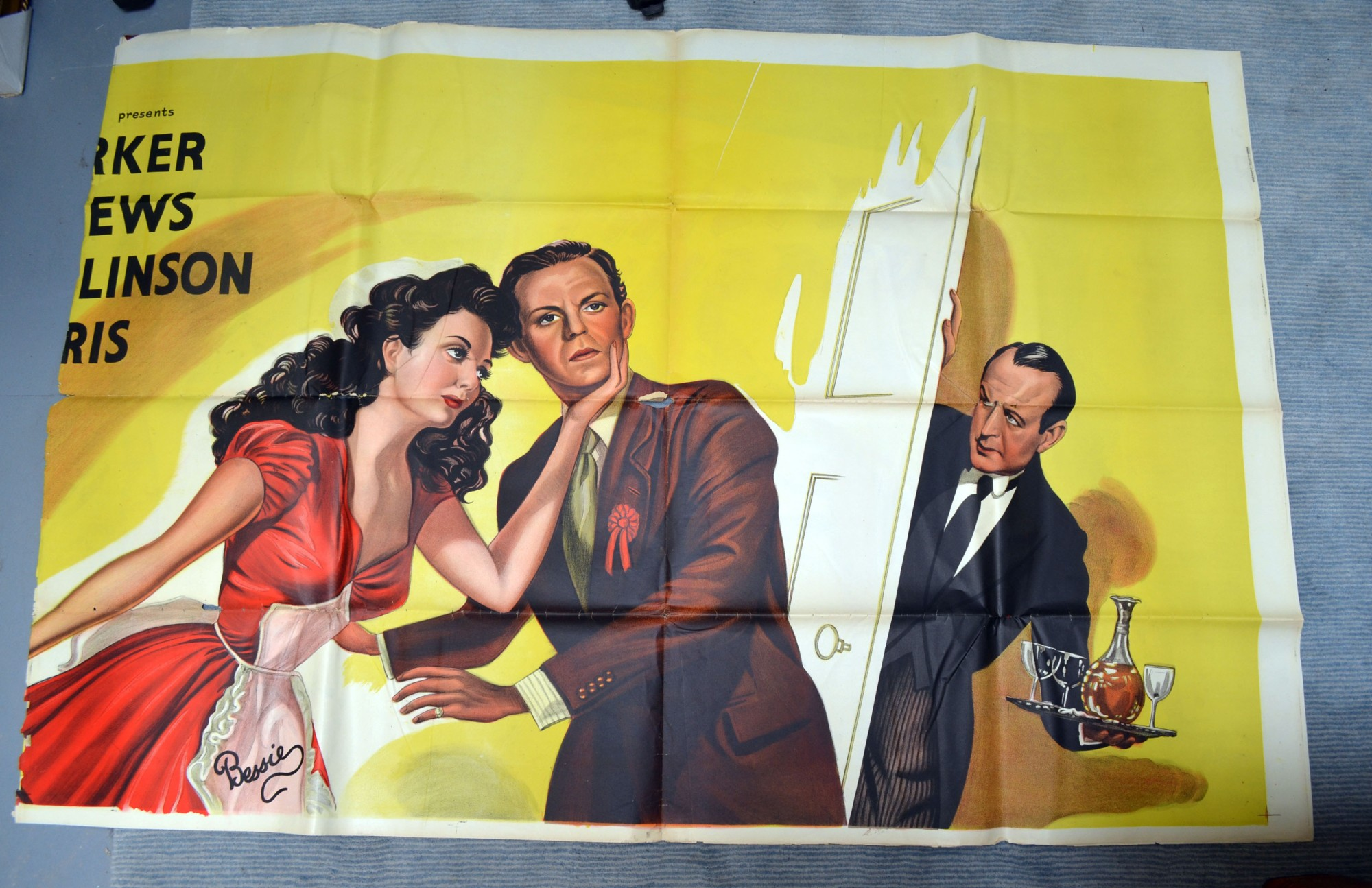 Lot 1930 - The Chiltern Hundreds (1949) British six sheet film poster, artwork by Eric Pulford, folded, B 81