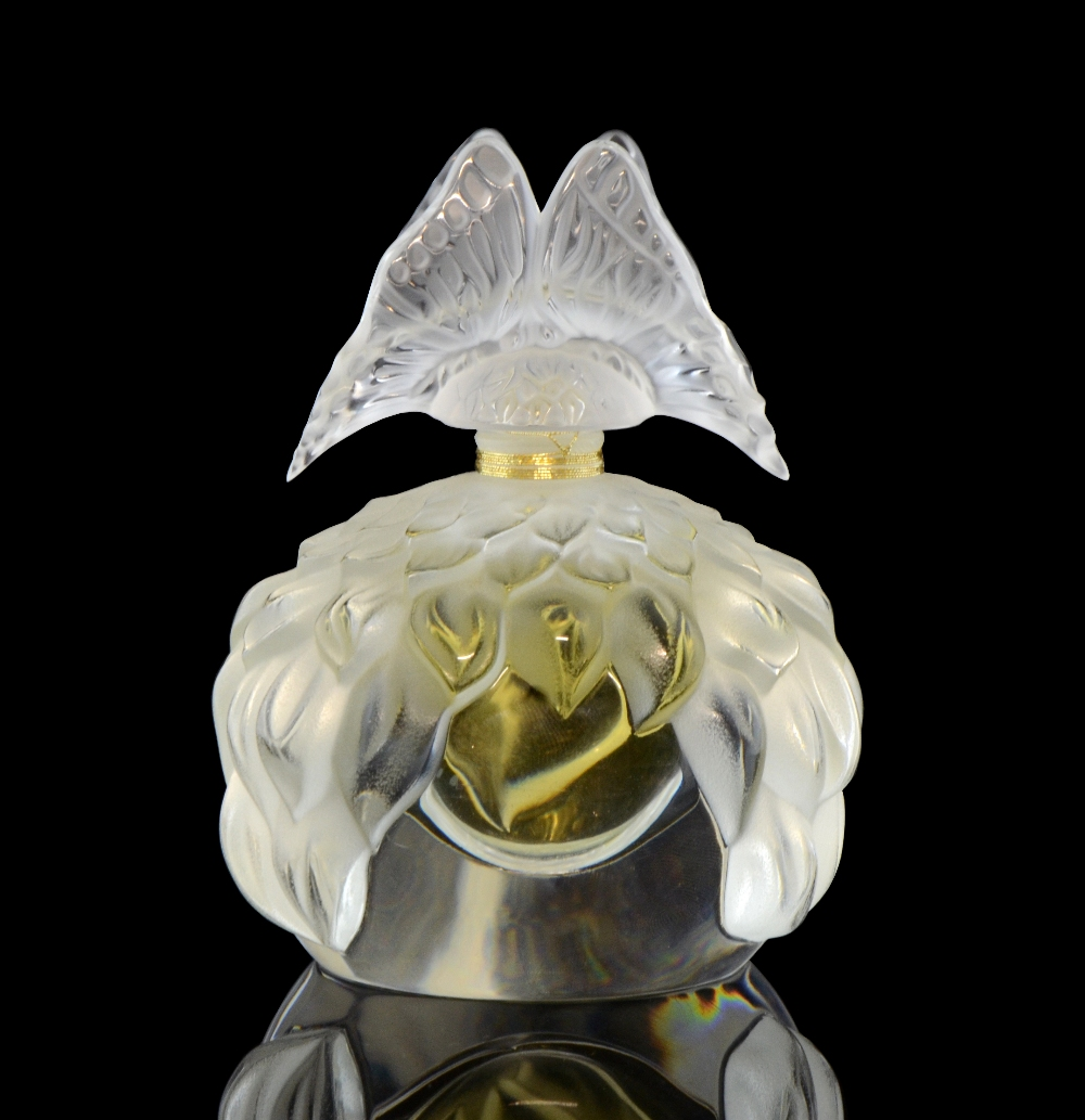 Lalique scent bottle `Papillon` flacon collection 2003, limited edition 60 ml perfume, sealed,