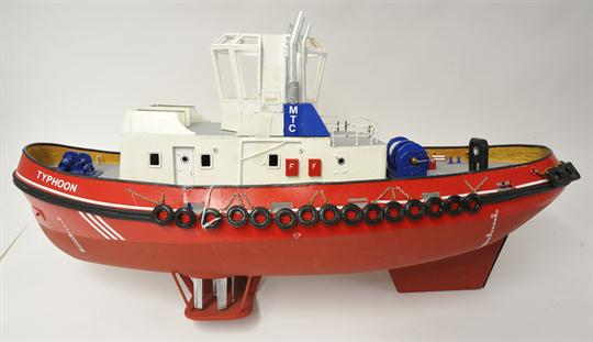 A scale model tug boxed, Voith Schneider twin tug 1:32 with