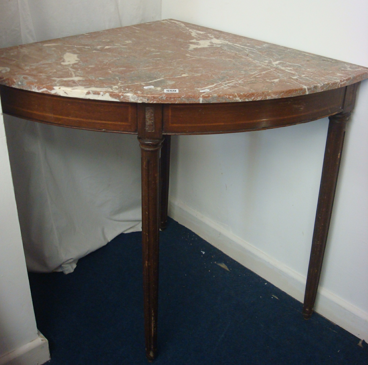 Great Lot 550   A Victorian Marble Top Washstand And A Marble Top Corner Table  With Mahogany