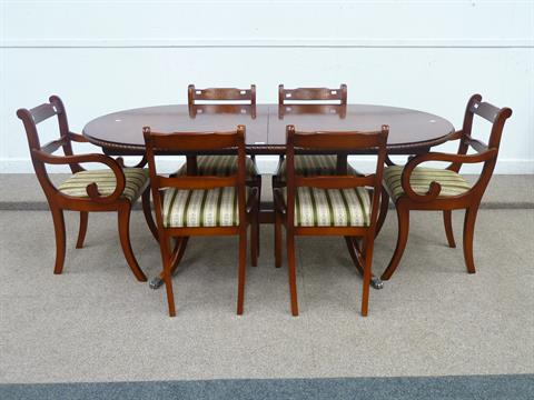 Superieur Beresford U0026 Hicks Regency Style Reproduction Mahogany Extending Dining  Table With Internal Leaf A
