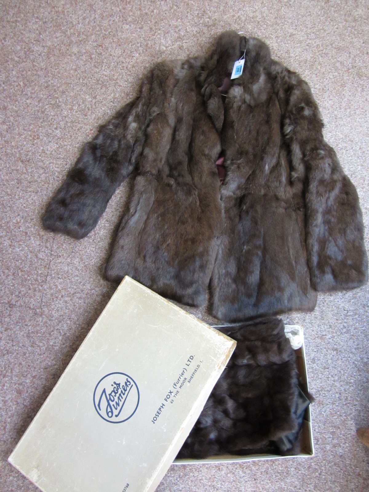 Lot 256   Fur Coat And Fur Stole By Joseph Fox Furrier