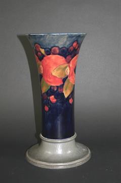 MOORCROFT TUDRIC VASE - LIBERTY & CO a large vase in the