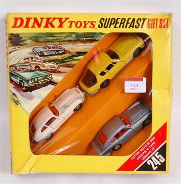 Dinky Toys 245 Superfast Gift Set Containing Jaguar E Type Aston