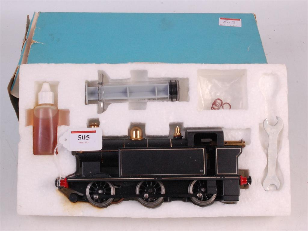 Lot 505 - Leech (Rochester) Ltd black live steam 0-6-0 tank loco with white lining complete with oil,