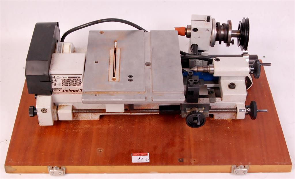emco unimat 3 table top lathe milling machine with additional rh the saleroom com emco unimat 3 lathe specifications emco unimat 3 lathe specifications