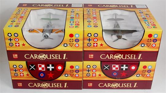 Carousel 1, 1/48 scale diecast aircraft group, all models