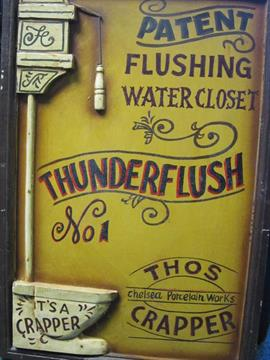 an advertising sign patent flushing water closet thunderflush thos