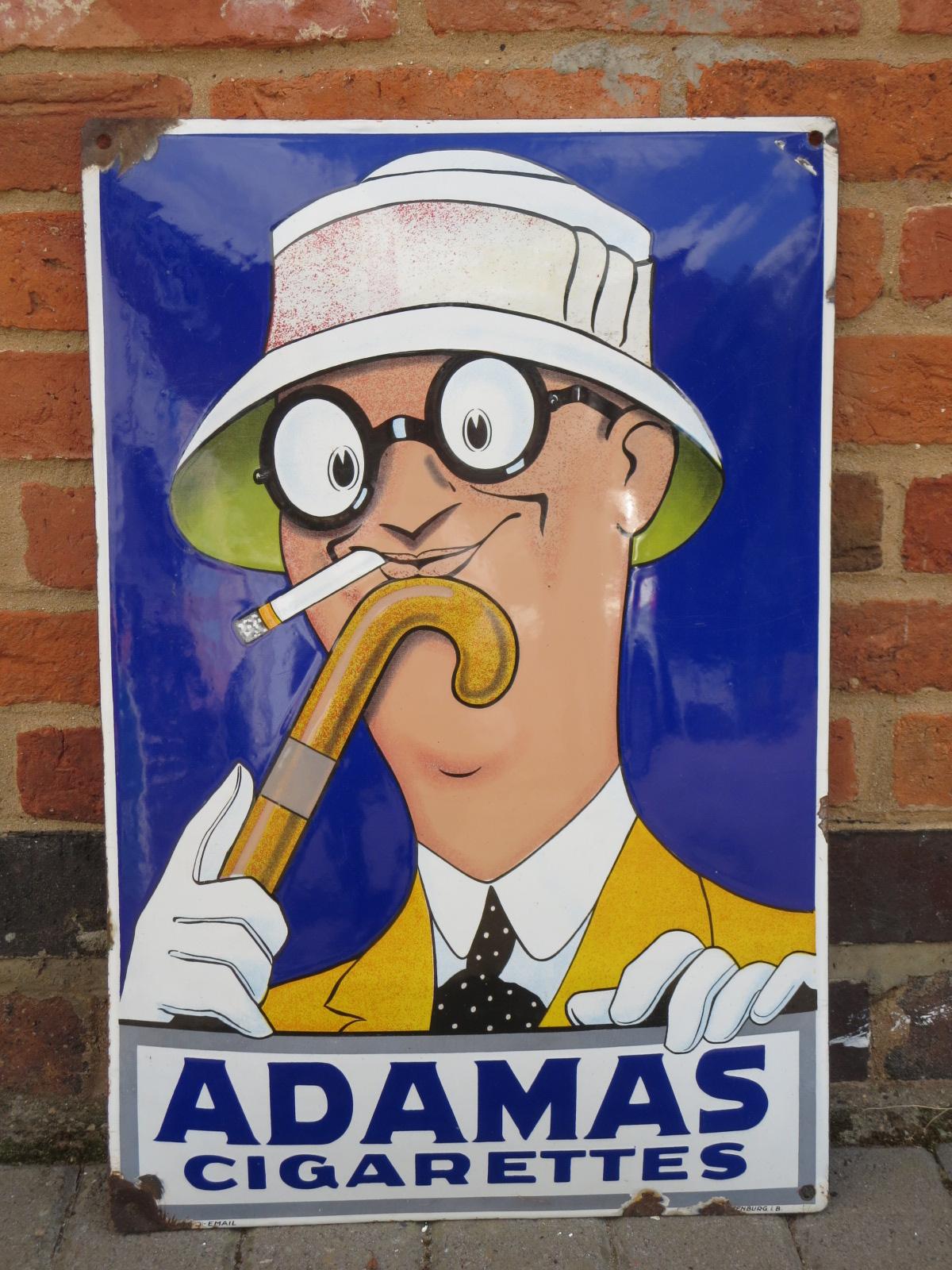 Adamas Cigarettes an enamel sign, adamas cigarettes, 15in x 23in